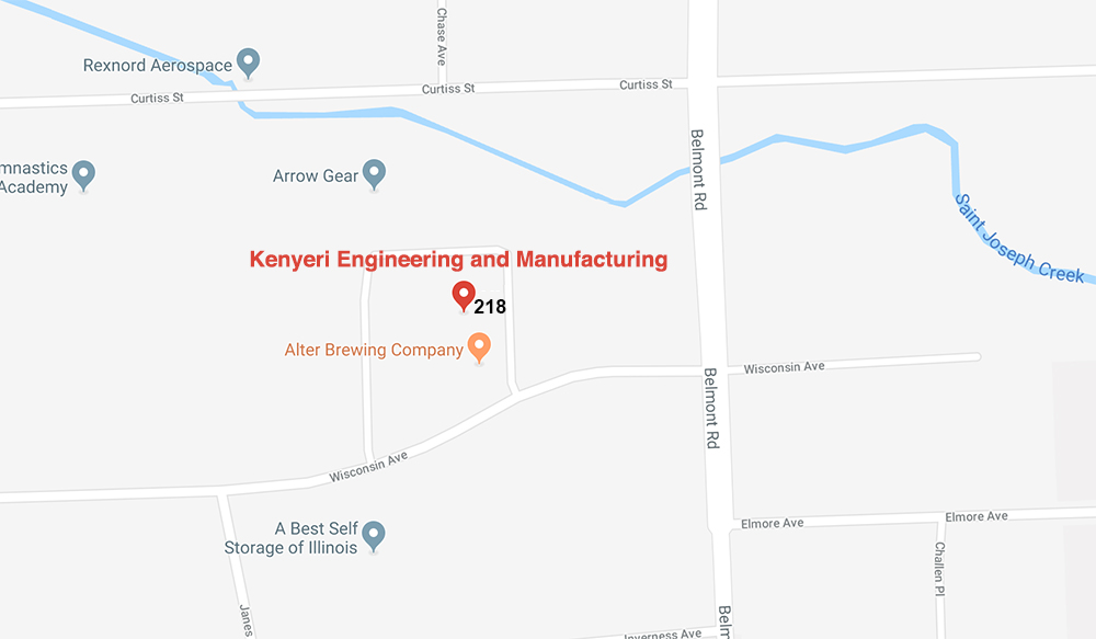 Kenyeri Engineering and Manufacturing, 2300 Wisconsin #218, Downers Grove, IL 60515